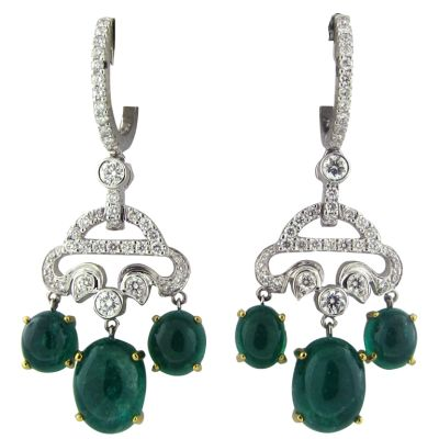 SEAMAN-SCHEPPS-Gold-Diamond-Emerald-Earrings-OakGem