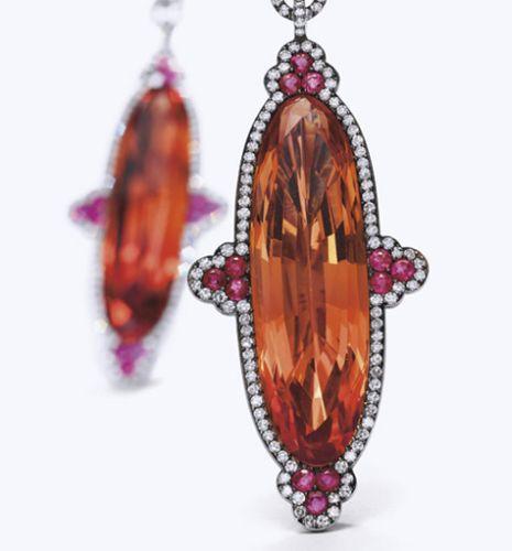 JAR-Imperial-Topaz-Ruby-and-Diamond-Earrings-Ellen-Barkin