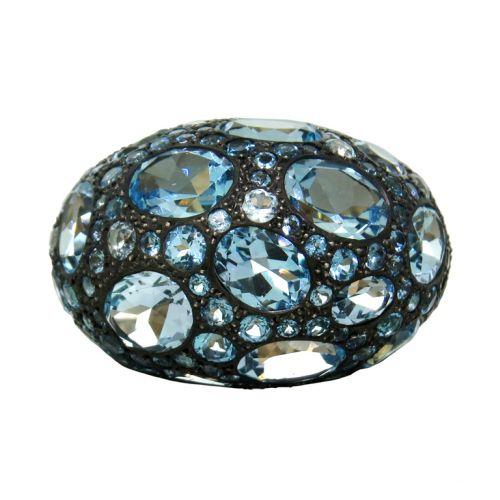 Pomellato-Tabou-Blue-Topaz-Silver-Gold-Ring