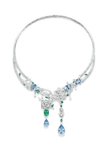 Piaget Rose Passion necklace in white gold set with tourmalines, topaz and diamonds