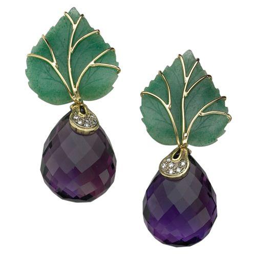 SORAB-ROSHI-Green-Aventurine-Leaf-Earrings