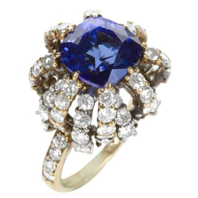 Gold-Tanzanite-and-Diamond-Ring-by-Donald-Claflin-for-Tiffany