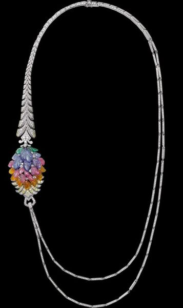 Platinum-mandarin-garnets-pink-tourmalines-tanzanites-tsavorite-garnets-yellow-diamonds-brilliants.