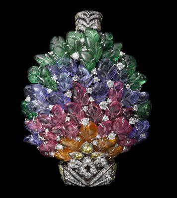 Platinum-mandarin-garnets-pink-tourmalines-tanzanites-tsavorite-garnets-yellow-diamonds-brilliants