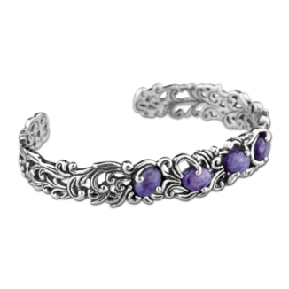 1_28619_FS_Charoite-and-Sterling-Silver-Cuff-Bracelet