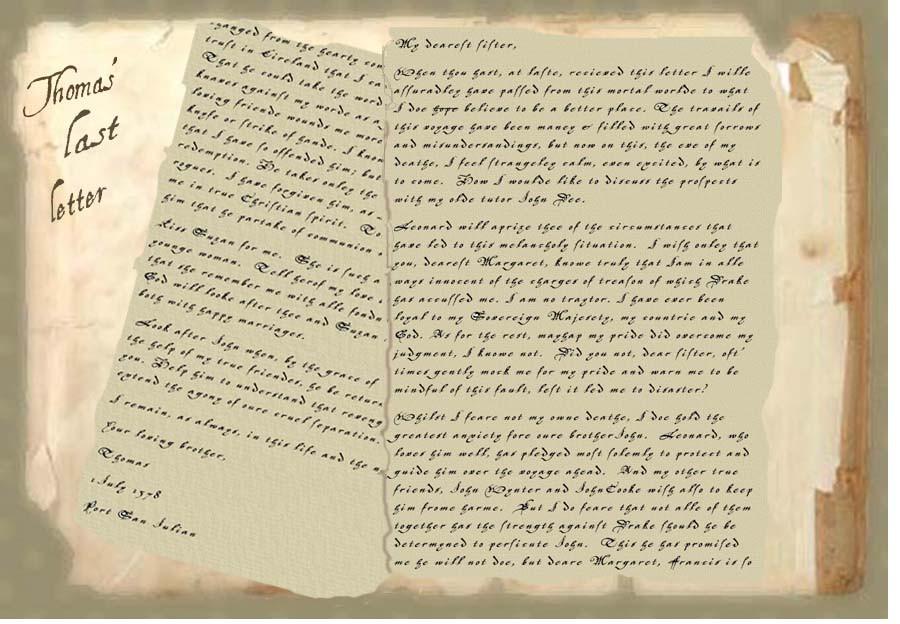 Thomas' last letter