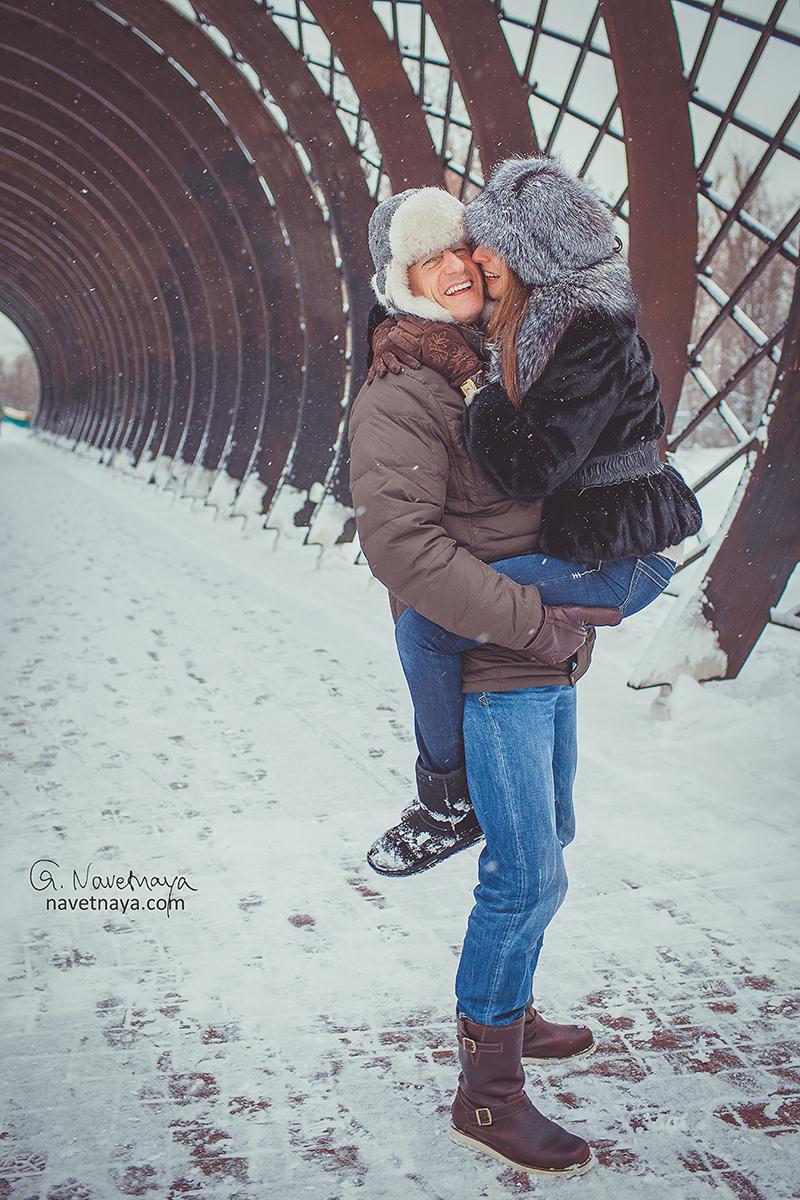 Фото влюблённых пар зимой