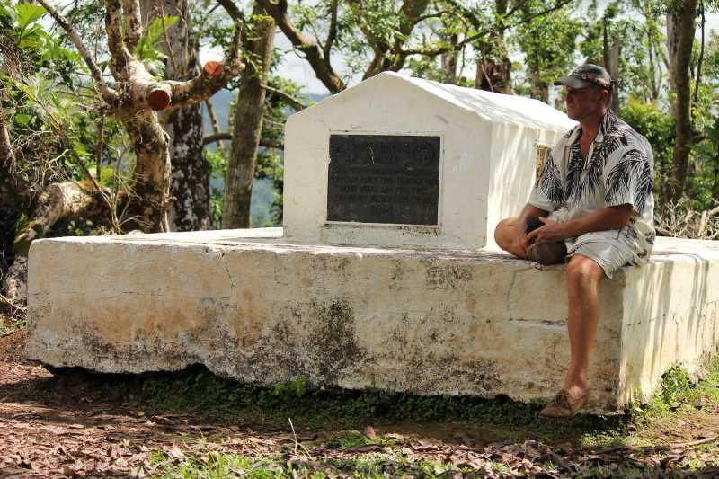 З.Самоа, Апиа, могила Р.С. Стивенсона