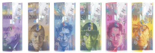 О банкнотах Швейцарии
