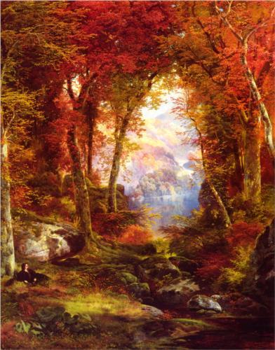 Томас Моран - под деревьями