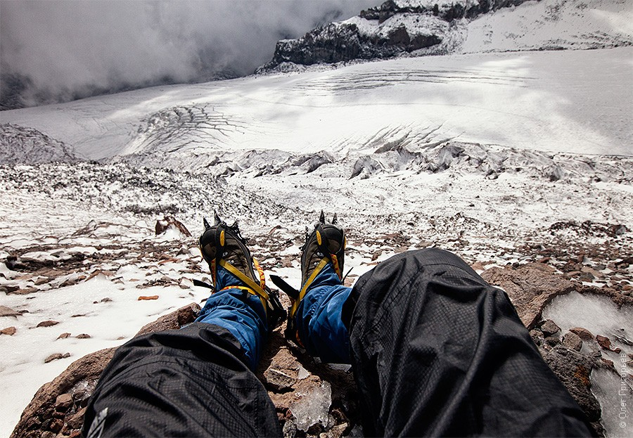 Вид на открытый ледник.
