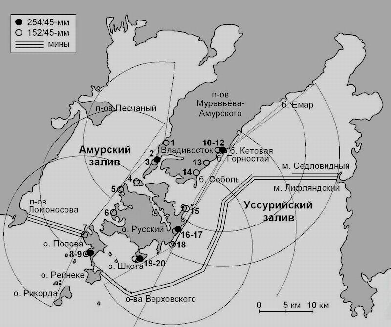 Схема обороны Владивостока с