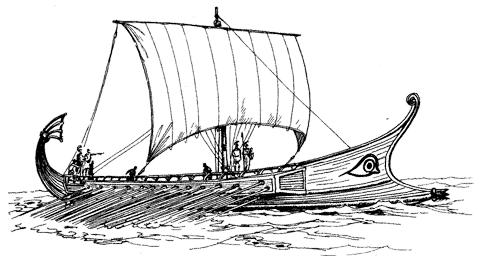 Рисунок, сделанный на основе изображения на греческой вазе