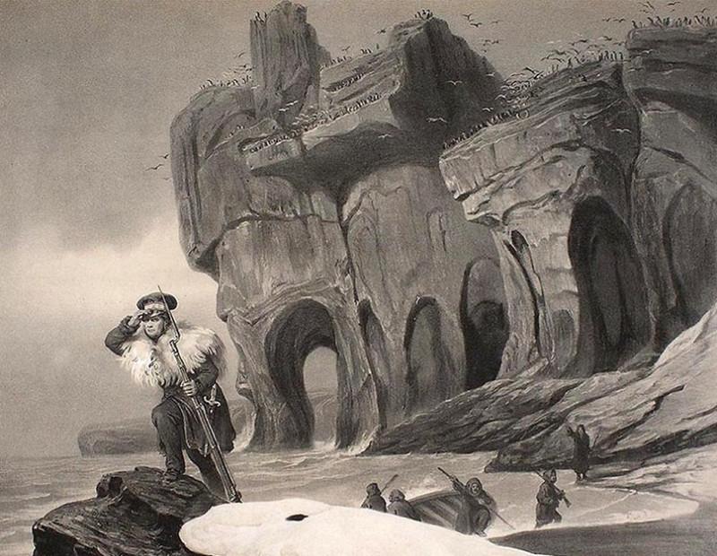 Vista de Beerenøyen 1838-Шпицберген