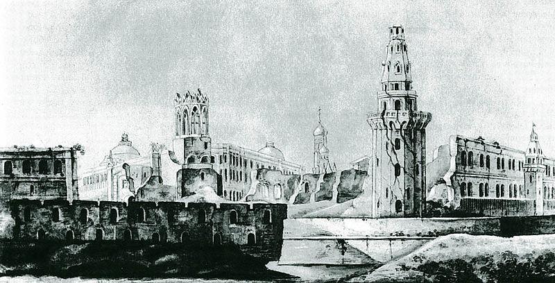 Кремль белокаменный до реставрации