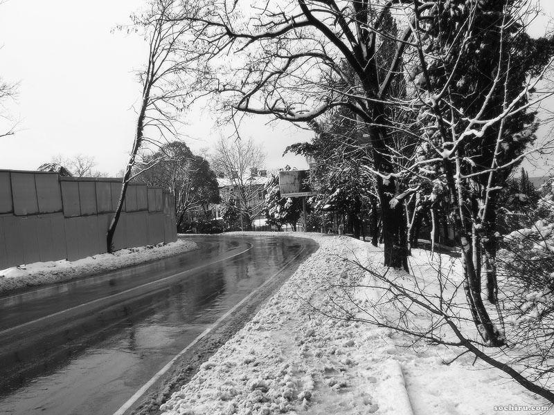 Улица Виноградная под снегом