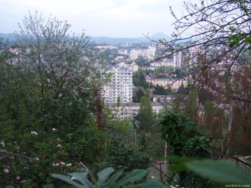 Вид на Сочи с улицы Госпитальной