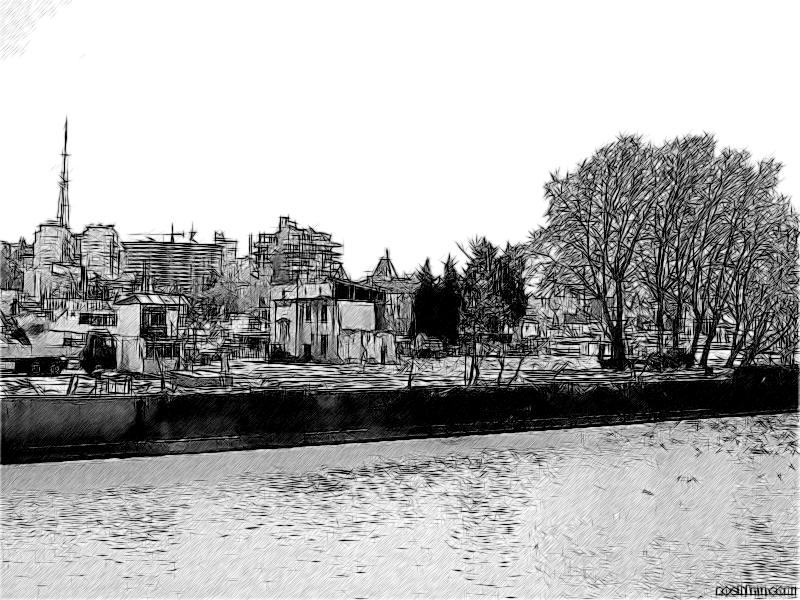Набережная реки Сочи в начале июня