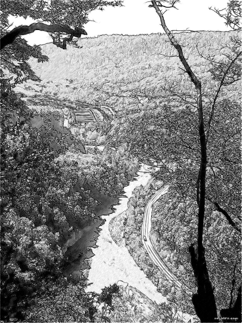 Вид на реку Мзымта в Ахштырском ущелье