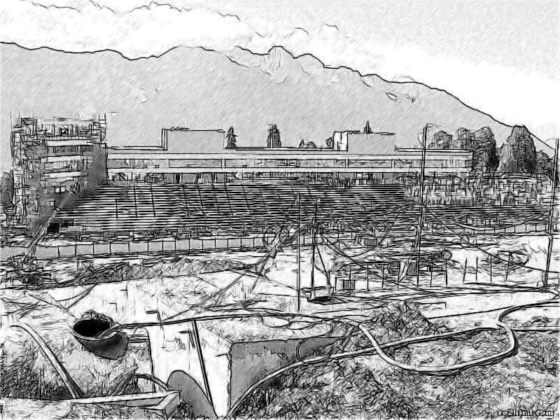 Строящиеся олимпийские объекты на хребте Псехако