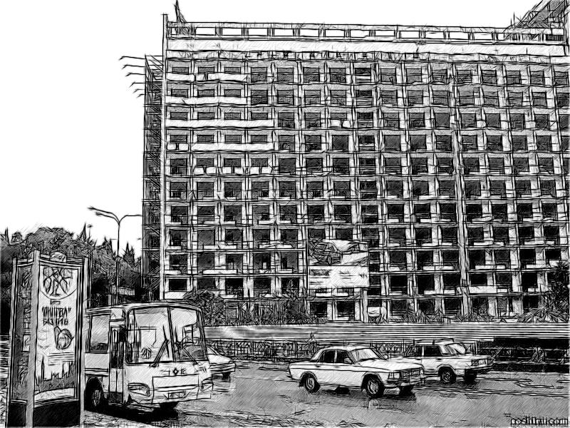 Реконструкция гостиницы Москвы