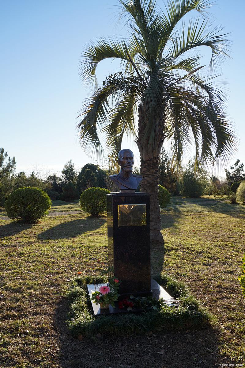 Памятник Драчевскому в парке Южные кульутры