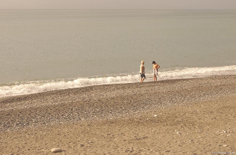 на пляже Юность