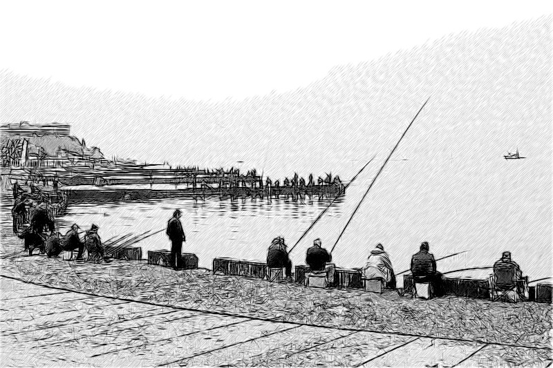 Рыбаки у морпорта