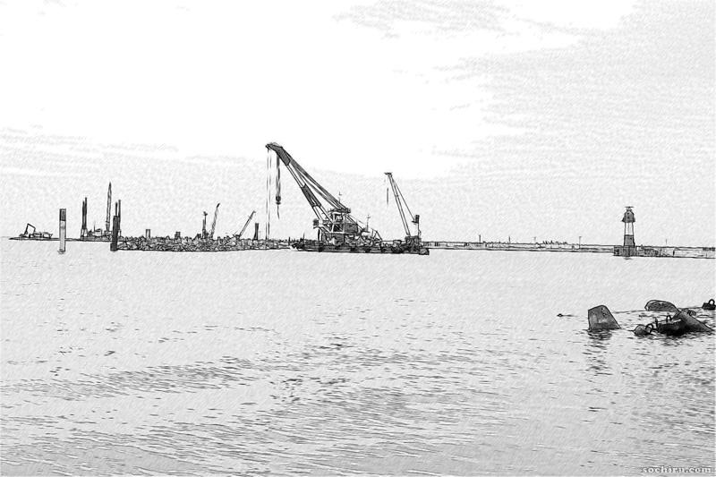 Расширяющаяся акватория морского порта