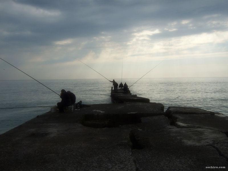 рыбаки на Чёрном море