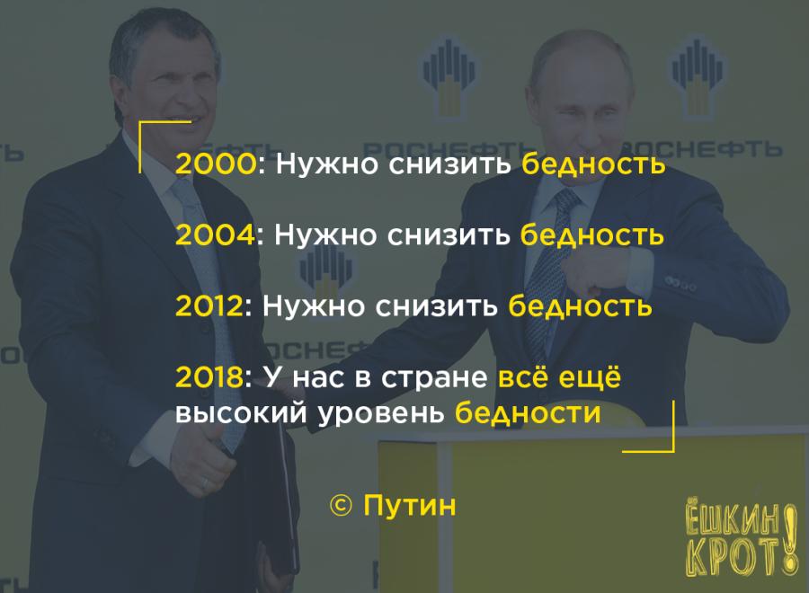 Путин-бедность