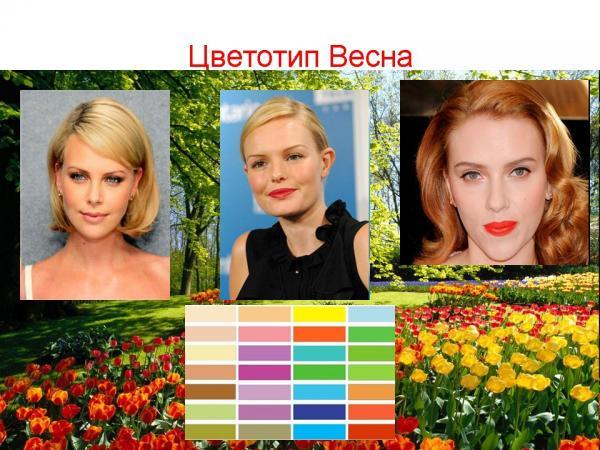 весенний цветотип внешности фото усиленное выделение