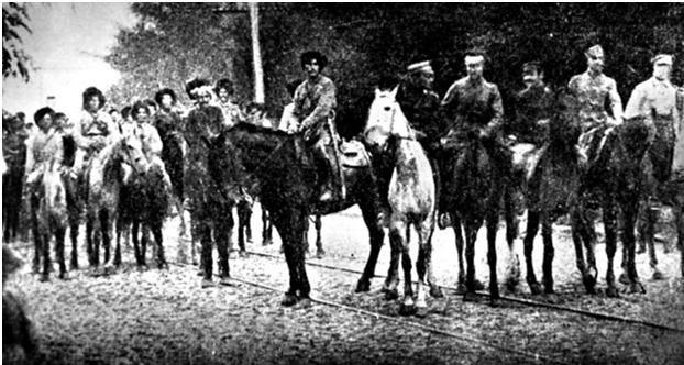 Встреча махновцев и сечевых стрельцов в Умани. Сентябрь 1919-го