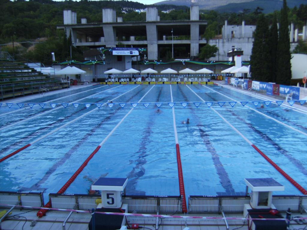 The competition pool, 50m outdoor
