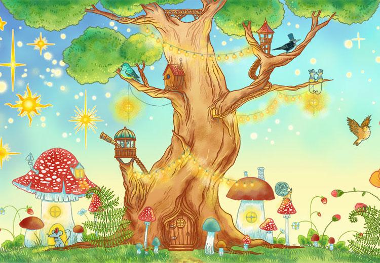 Казкове дерево картинка