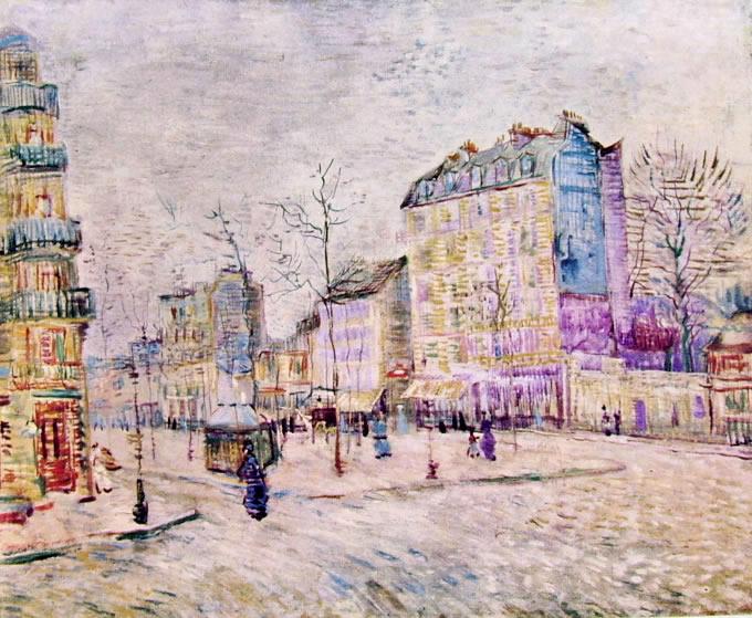 Boulevard de clichy, 1887. Vincent Van Gogh