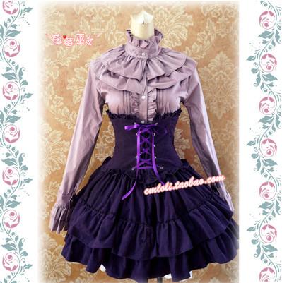 strawberry witch purple skirt