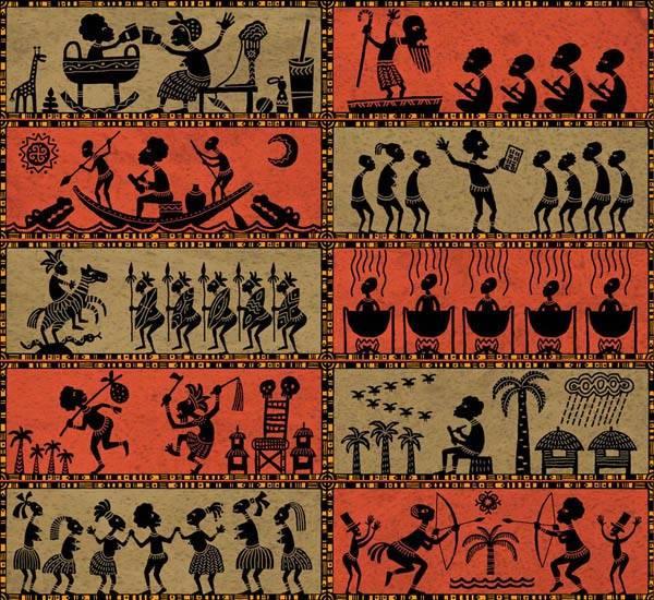 Житие Пушкина в наскальных рисунках народов экватора
