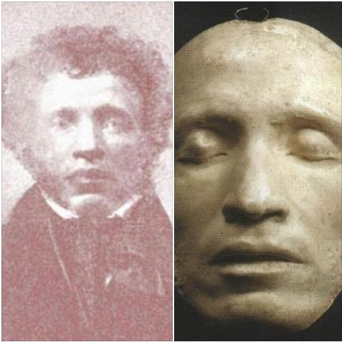 фото Пушкина и его посмертная маска