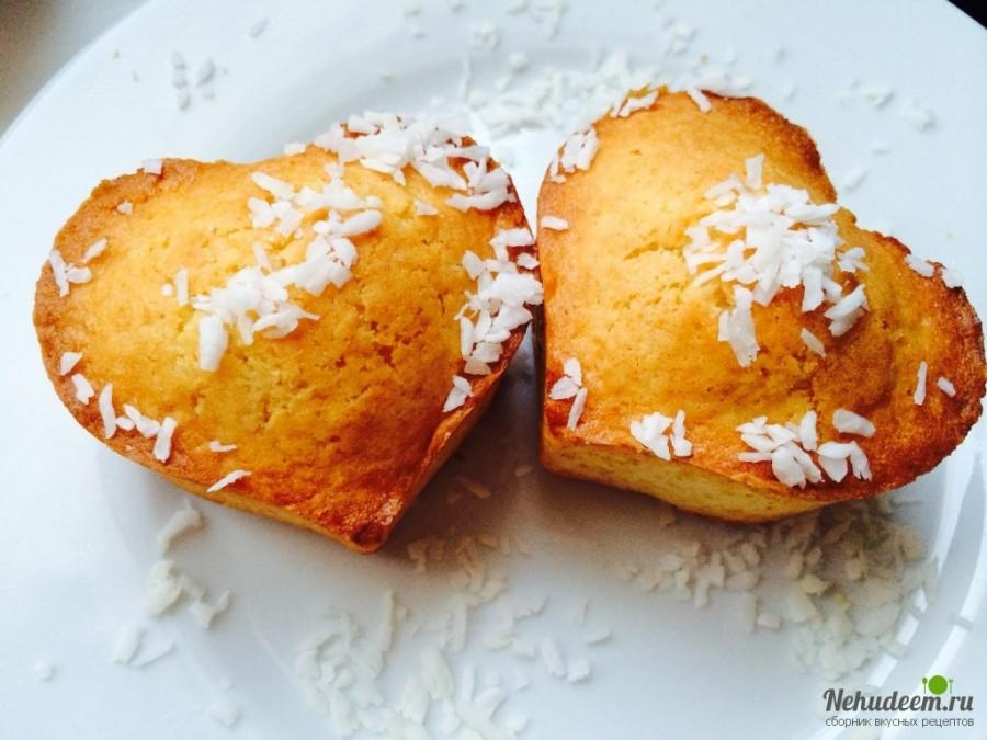 Маффины с кокосовой стружкой рецепт с фото