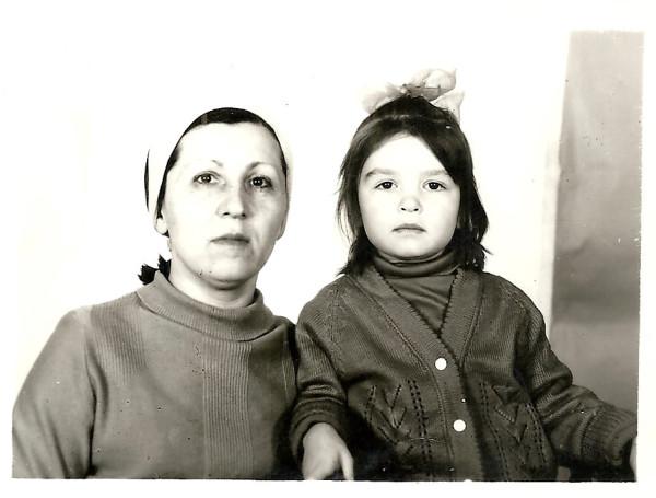 Жеребцова Елена с дочерью Полиной, 1990