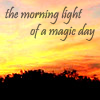 the morning light of a magic day
