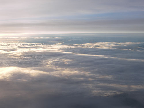 morning above the clouds