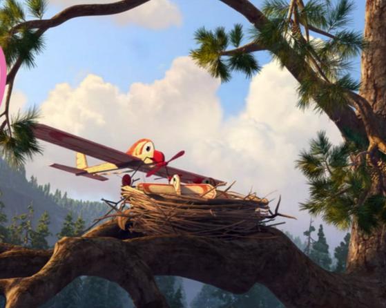 самолёт в гнезде