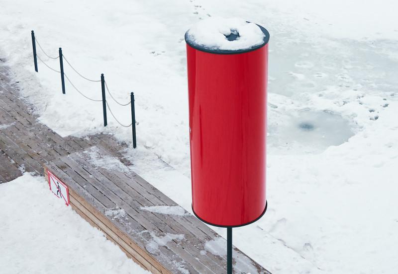 Красные фонари на тульской набережной