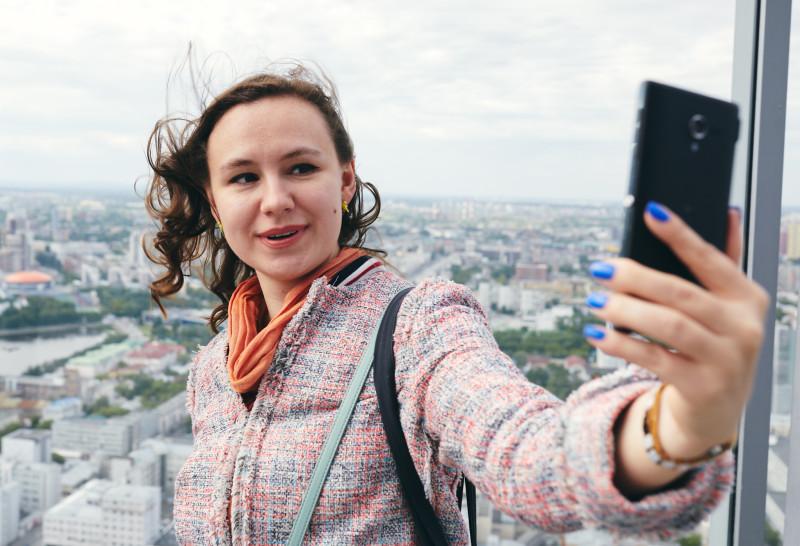 @a_nouchka на смотровой площадке на 52-м этаже Высоцкого