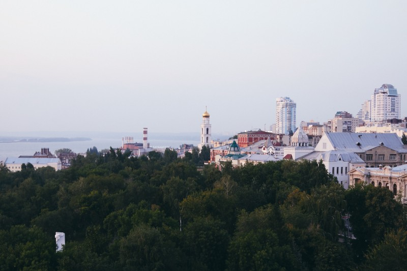 Самара, вид с бизнес-центра Волга-Плаза
