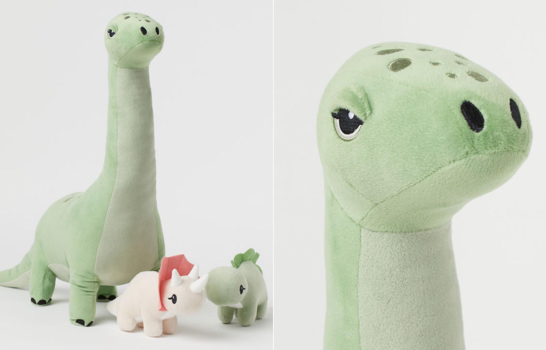 Динозавр Володя, скриншот с сайта H&M