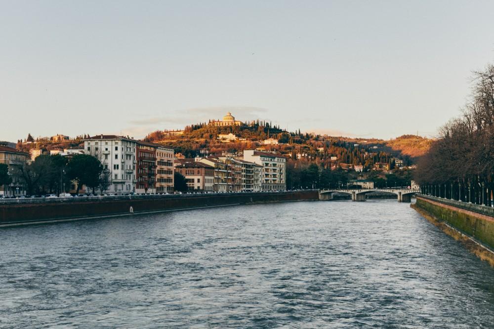 Верона, вид на город