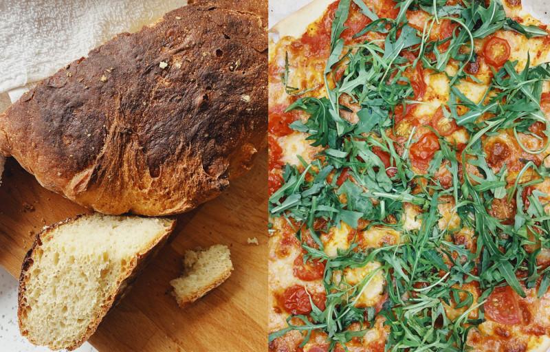 Хлеб и пицца